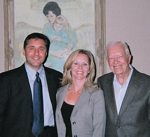 John and Theresa Hussman with President Jimmy Carter