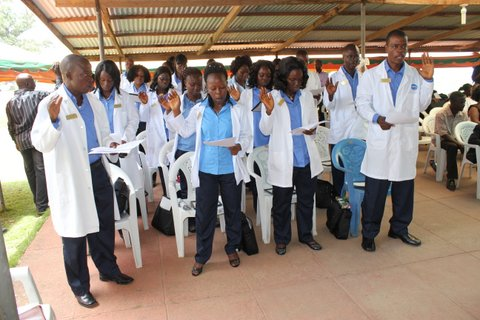 Mental health workers in Liberia graduating from Carter Center program